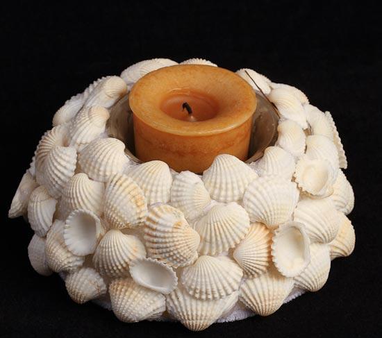 White Seashell Candle Holder - Beach Theme - Wedding Themes ...