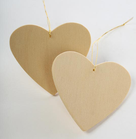 Unfinished wood heart ornament 2 pieces wooden hearts for Wooden hearts for crafts