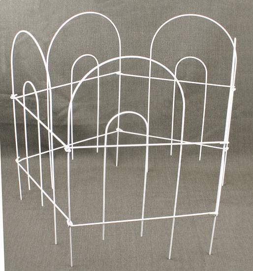 White Wire Garden Fence