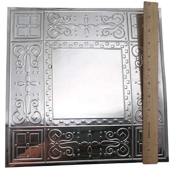12 Quot Vintage Galvanized Metal Embossed Checks Ceiling Tile