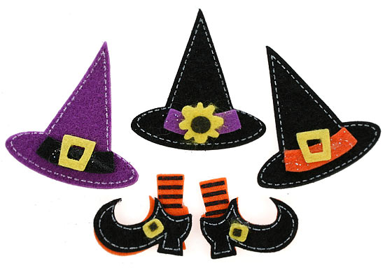 Witch Hat and Boot Felt Stickers - Halloween - Holiday Crafts c76f6d4048b