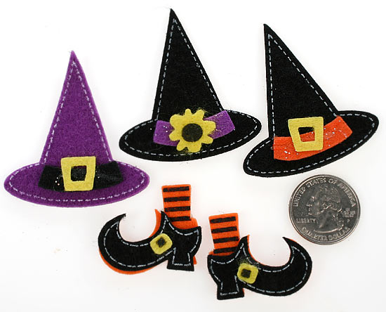 9d3731b3130 Witch Hat and Boot Felt Stickers - Halloween - Holiday Crafts