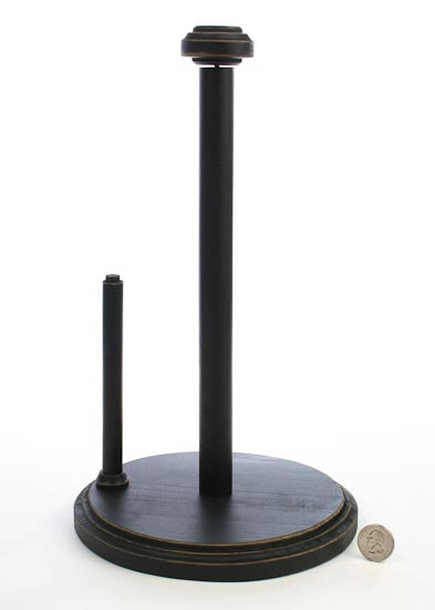 Primitive Black Paper Towel Holder Kitchen And Bath