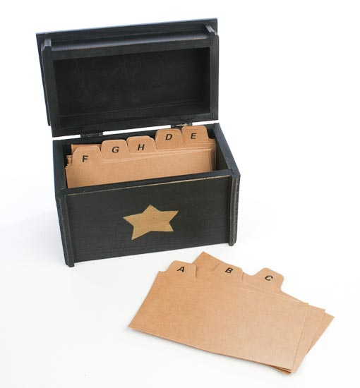 Decorative Recipe Box Classy Primitive Black With Star Recipe Box  Baskets Buckets & Boxes Decorating Inspiration