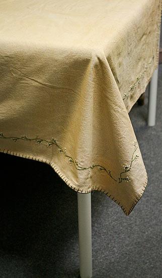 Primitive Vine And Stars Reversible Tablecloth Textiles