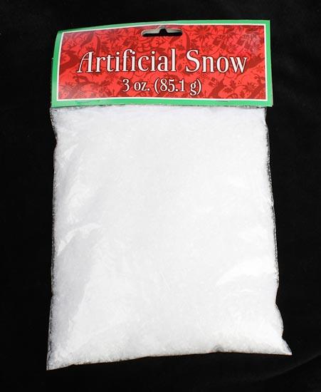 White artificial snow snowflakes glitter