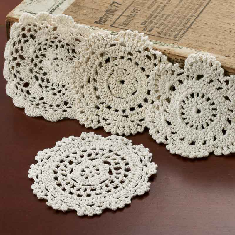 Ecru Round Crocheted Doilies Crochet And Lace Doilies Home Decor