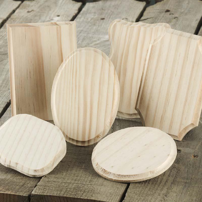 Unfinished Wood Beveled Plaque