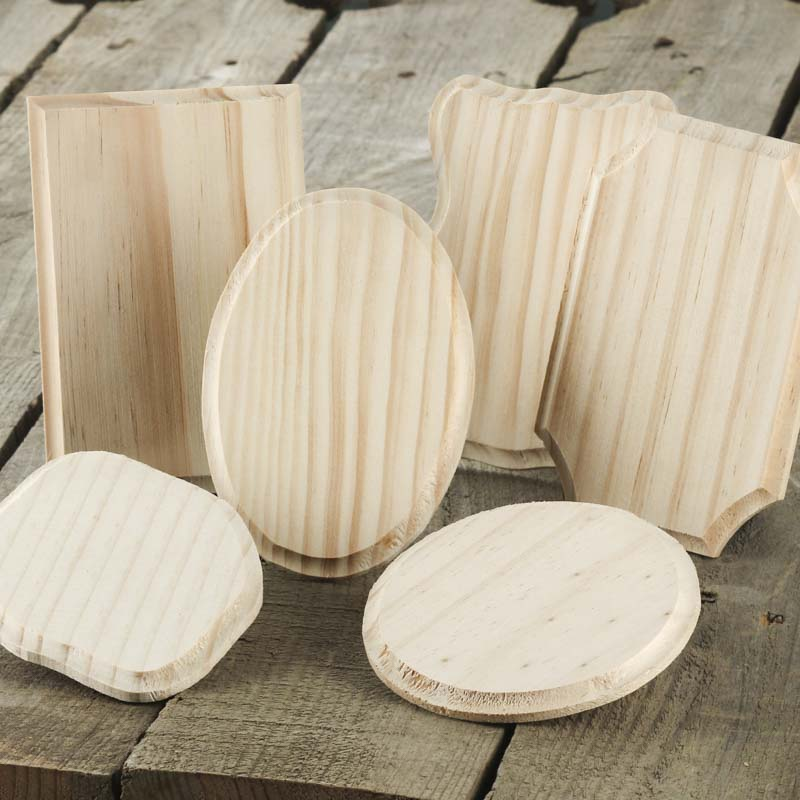 Beveled unfinished wooden plaque wooden plaques and for Wooden craft supplies wholesale