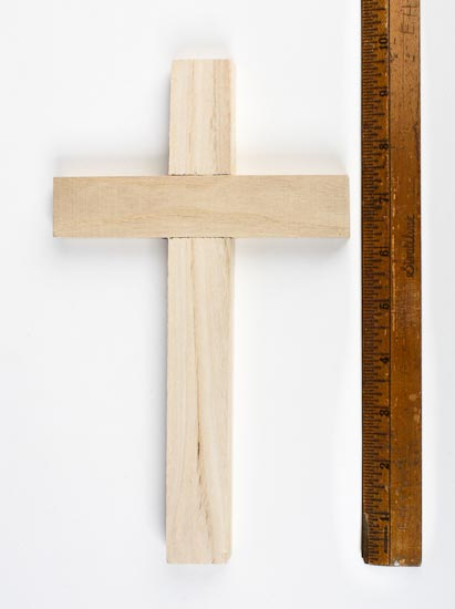 Unfinished Wood Wall Cross