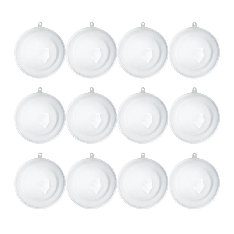 Bulk Christmas Ornaments Balls: Bulk 110mm Clear Acrylic Fillable Ball Ornaments