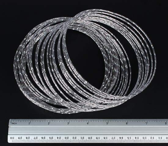 how to create diamonds look on aluminium