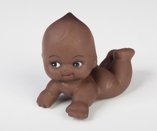 African American Soft Vinyl Kewpie Baby Dolls Plastic