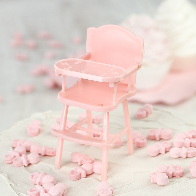 Click Here For A Larger View Pink Baby High Chair Shower Favors - It\u0027s a Girl! Theme