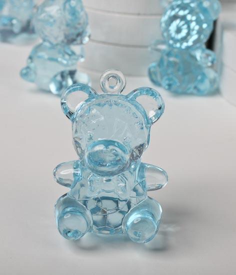 Blue Acrylic Teddy Bear Baby Shower Favors It S A Boy