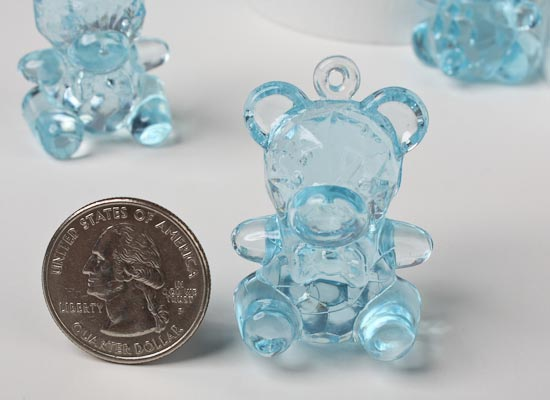 acrylic baby teddy bear favors baby shower decorations baby shower