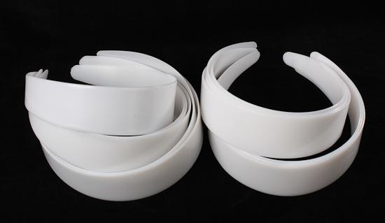 white plastic headbands hair accessories basic craft supplies