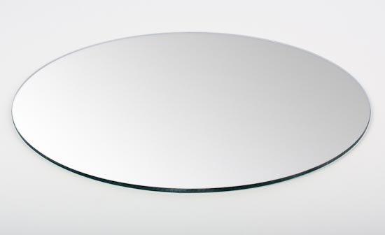 Set of quot round glass centerpiece mirror