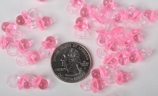 Baby Shower Favors Pacifiers ~ Pink baby pacifier shower favors its a girl! theme baby shower