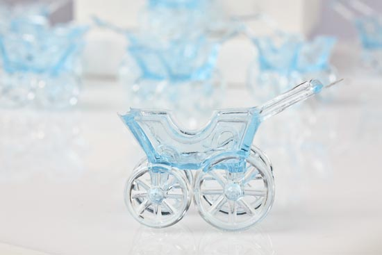 Blue Acrylic Baby Buggy Shower Favors It S A Boy Theme