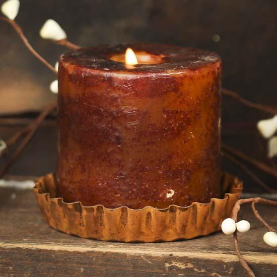 Primitive Rusty Tin Tart Candle Pan Rusty Tin Primitives