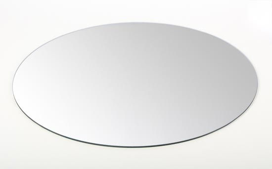 Set of quot round glass centerpiece mirrors