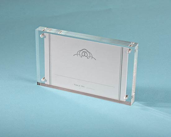 clear acrylic magnetic photo or placecard holder frame bridal shower