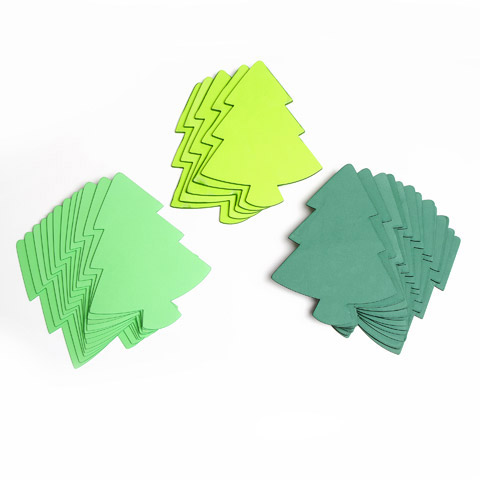 Assorted craft foam christmas trees foamies craft foam for Foam sheet christmas crafts