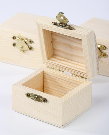 Unfinished wood mini chests wood miniatures unfinished for Unfinished wooden boxes for crafts
