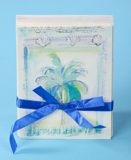 Beach Theme Card Stock: Beach Theme Blank Note Cards And Envelopes