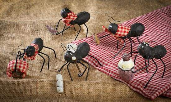 2149 2260 25622 Black dressed picnic ant table decorations set of 5 on anchor party decorations
