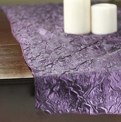 Crepe table Deep Satin purple Luxurious runners Purple  and Table Runner placemats