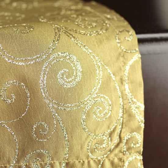 Runner table Home Satin Decor  Table Antique Linens Glitter Swirls runners  Table cheap satin
