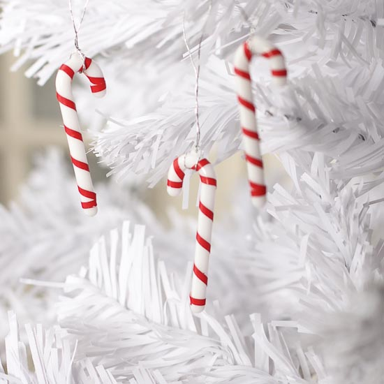 Miniature Candy Cane Ornaments - Christmas Ornaments - Christmas and ...