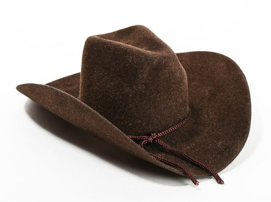 small brown cowboy hat doll hats doll making supplies