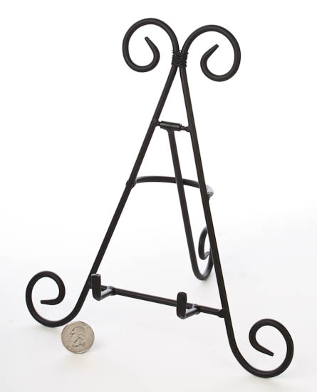Black Wrought Iron Display Easel - Decorative Plates and Bowls ...