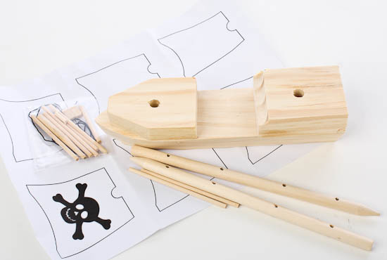 Wooden Model Pirate Ship Kit