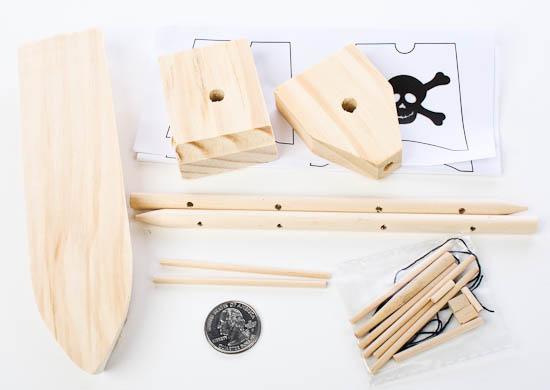 wooden model pirate ship kit kids craft kits kids. Black Bedroom Furniture Sets. Home Design Ideas