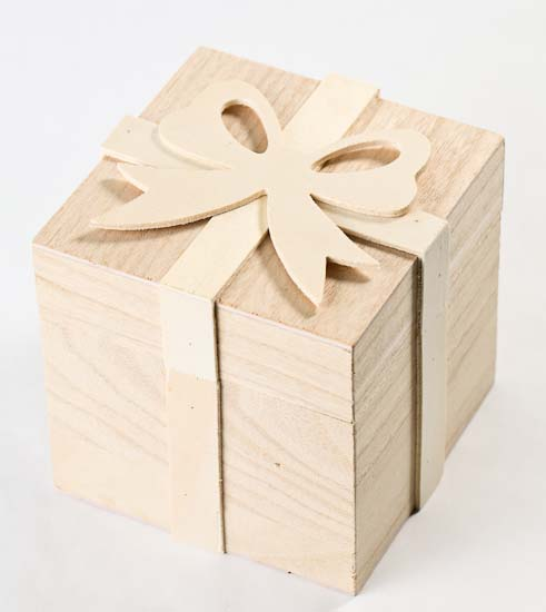 Small Unfinished Wood Gift Box - Gift Bags - Favor Bags