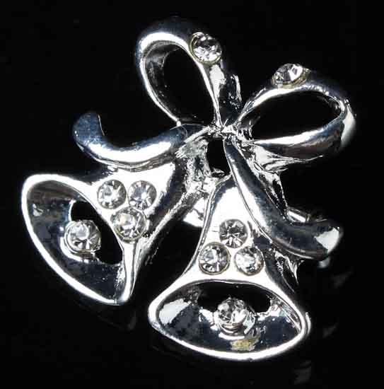 Silver Wedding Bells Pins
