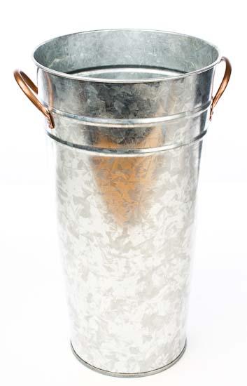 galvanized french flower bucket