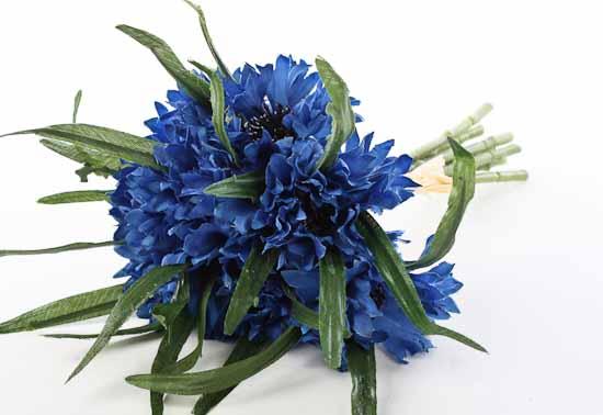 Dark blue artificial cornflower bundle bushes and bouquets compare size mightylinksfo