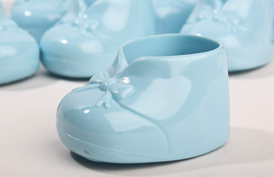 Blue Baby Bootie Shower Favors Its A Boy Theme Baby Shower