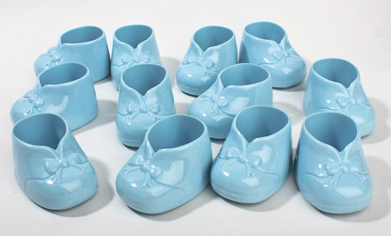 Blue Baby Bootie Shower Favors It S A Boy Theme Baby