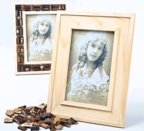 Unfinished Wood Photo Frame Kits Set Of 6 Picture Frames Home