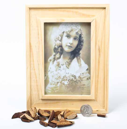 Unfinished wood photo frame kits set of 6 picture for Unfinished wood frames for crafts