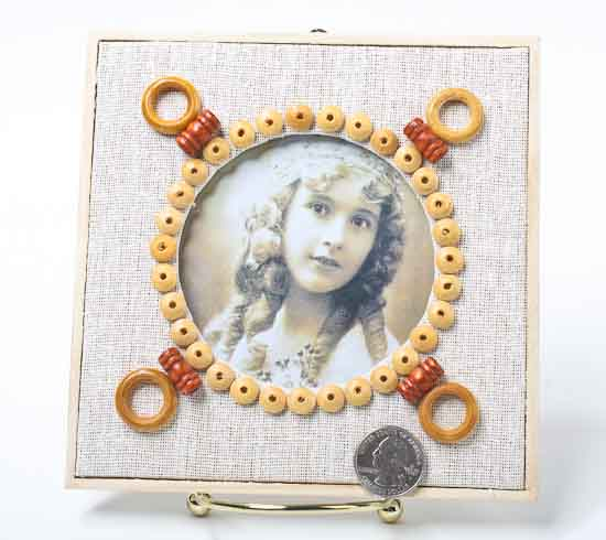 Unfinished Wood With Oval Cutout Photo Frame Kit Kids