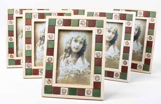 Wood And Ceramic Tile Picture Frame Picture Frames