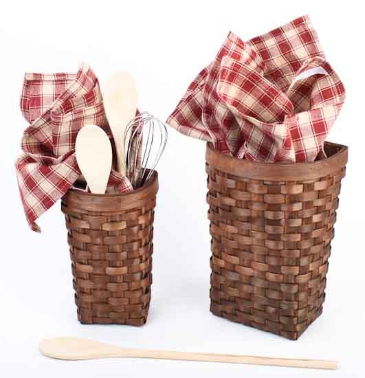 Basket Home Decor: Primitive Natural Woven Wall Baskets