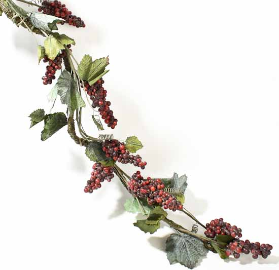 6 39 deluxe artificial grapevine garland with burgundy for Artificial grape vines decoration